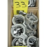 "Lot 33 - 2"" S/S Clamps Rigging Fee $ 15"