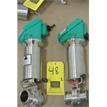 "Lot 48 - Tri Clover 2"" S/S Air-Actuated Butterfly Valve with Control Tops Rigging Fee $ 15"