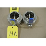 "Lot 14A - Bradford 3"" S/S Butterfly Valves Rigging Fee $ 15"