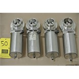 "Lot 50 - 2"" S/S Air-Actuated Butterfly Valves Rigging Fee $ 15"