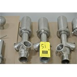 "Lot 51 - 2.5"" 3-Way S/S Air Valves Rigging Fee $ 15"