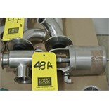 "Lot 48A - 2"" S/S Air-Actuated Butterfly Valve Rigging Fee $ 15"