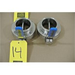 "Lot 14 - Bradford 3"" S/S Butterfly Valves"