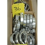 """Lot 36 - 3"""" S/S Clamps Rigging Fee $ 15"""