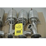 "Lot 47 - 2"" 2-Way S/S Tank Air Valves Rigging Fee $ 15"