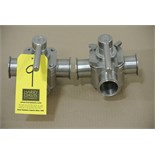 "Lot 9 - Koltek 2"" 3-Way S/S Plug Valves Rigging Fee $ 15"