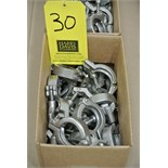 """Lot 30 - 1.5"""" S/S Clamps"""