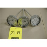 Lot 21B - ReoTemp S/S Thermometers, Threaded Rigging Fee $ 15