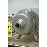 "Lot 58 - APV Puma Centrifugal Pump Size 2""-2""-9"", with 2 HP 3,490 RPM Motor and S/S Shroud Rigging Fee $ 35"