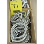 "Lot 37 - 4"" S/S Clamps"