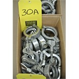 """Lot 30A - 1.5"""" S/S Clamps Rigging Fee $ 15"""