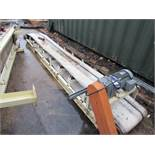 V Shaped Conveyor 450 x 4100mm incomplete, some ro