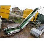 Inclined Belt Conveyor 2.8m lift, 450mm Wide, Mobi