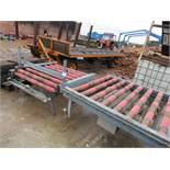 3 Roller Conveyors, Powered Pallet Roller Conveyor