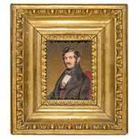 Alois von Anreiter (1803–1882) Bildnis des Dichters Nikolaus Lenau 1839 Gouache auf Elfenbein