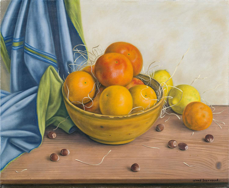 Aimé Barraud (1902–1954) Nature morte aux fruits l auf Leinwand unten rechts signiert « aimé barraud