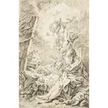 François Boucher (1703–1770) nach Nativité Kohle auf Papier, weiss gehöht unten links