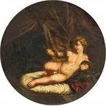 Francesco Albani (1578–1660) Umkreis Der junge Herkules mit zwei Schlangen l auf Schiefer 32 cm