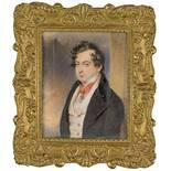 Moritz Michael Daffinger (1790–1849) Junger Mann mit Orden Gouache auf Elfenbein rechts oberhalb der