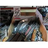 LOT - MISC HAND TOOLS, TROWELS, ETC.