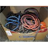 LOT - LARGE BOX OF MISC AIR HOSE