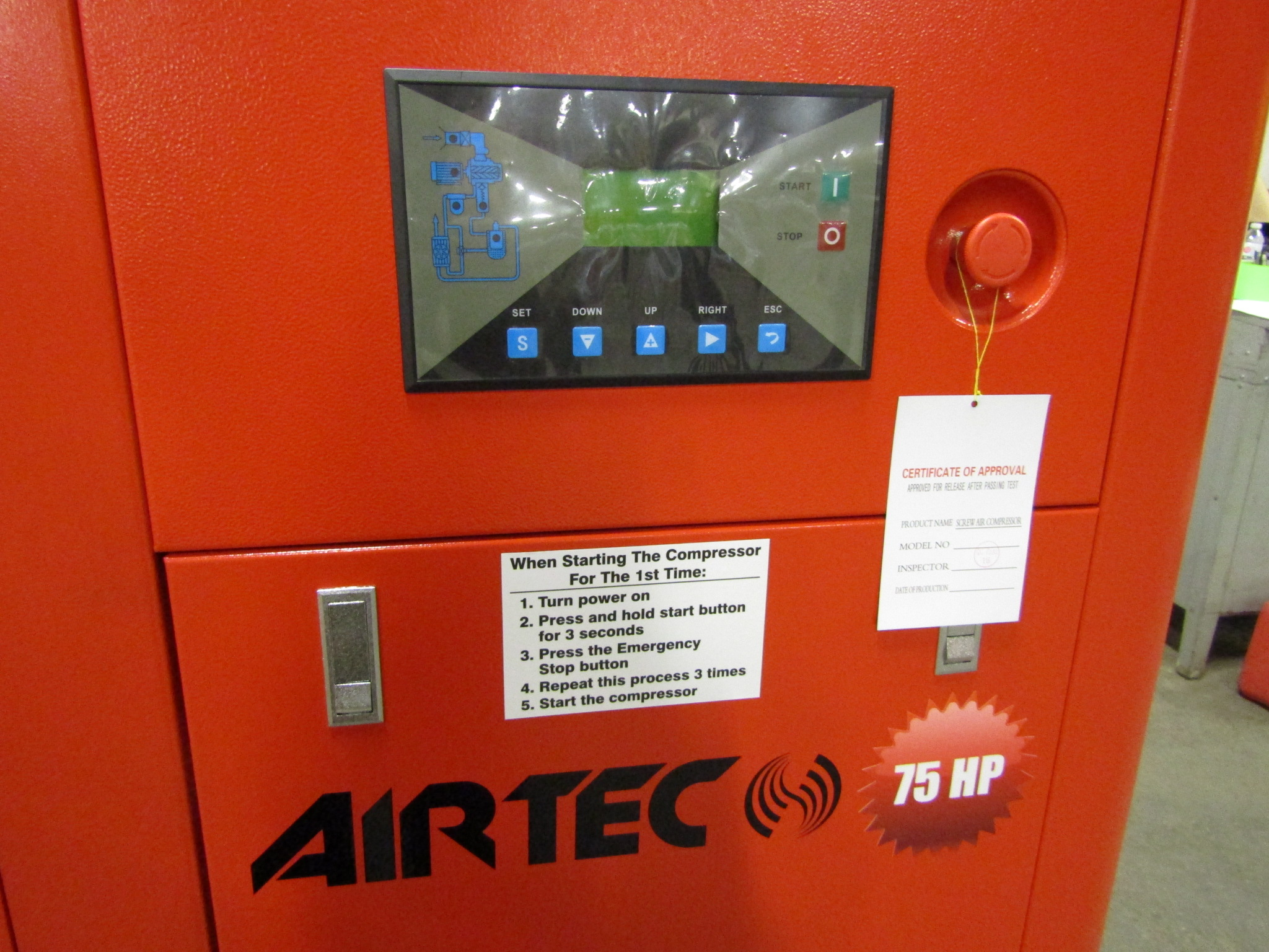 Airtec 75HP Rotary Screw Air Compressor - MINT UNUSED COMPRESSOR - Image 2 of 3