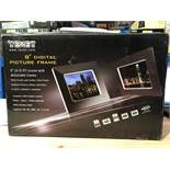 "1 BOXED TEXET 8"" DIGITAL PICTURE FRAME IN BLACK / RRP £29.99 (PUBLIC VIEWING AVAILABLE)"