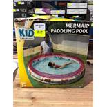 1 BOXED KID CONNECTION MERMAID PADDLING POOL / RRP £12.99 (PUBLIC VIEWING AVAILABLE)