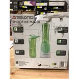 1 BOXED AMBIANO SMOOTHIE MAKER IN GREEN / RRP £14.99 (PUBLIC VIEWING AVAILABLE)