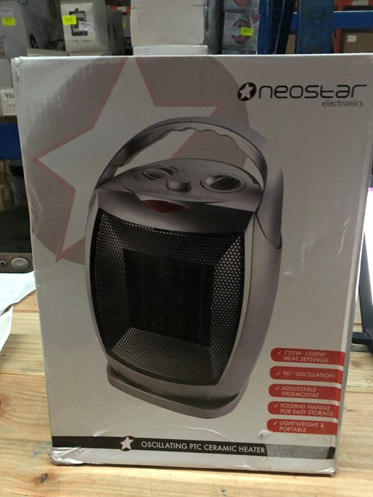 Lot 64 - 1 BOXED NEOSTAR ELECTRONICS OSCILLATING PTC CERAMIC HEATER / RRP £24.99 (PUBLIC VIEWING AVAILABLE)
