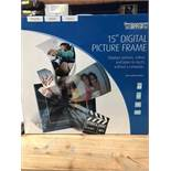 "1 BOXED TEXET 15"" HIGH PERFORMANCE DIGITAL PICTURE FRAME / RRP £50.89 (PUBLIC VIEWING AVAILABLE)"