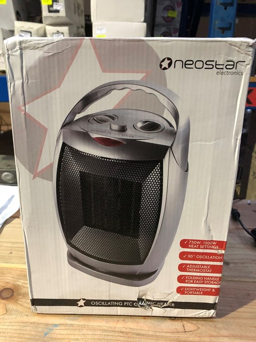 Lot 76 - 1 BOXED NEOSTAR ELECTRONICS OSCILLATING PTC CERAMIC HEATER / RRP £24.99 (PUBLIC VIEWING AVAILABLE)