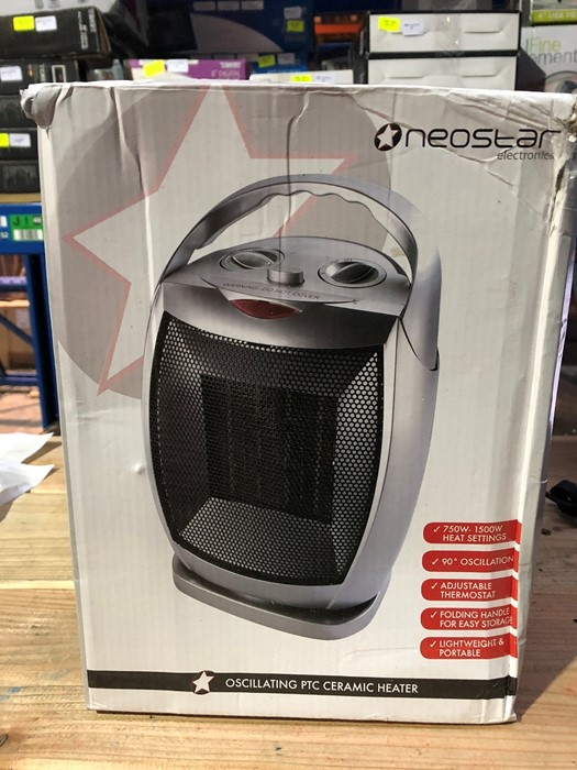 Lot 38 - 1 BOXED NEOSTAR ELECTRONICS OSCILLATING PTC CERAMIC HEATER / RRP £24.99 (PUBLIC VIEWING AVAILABLE)