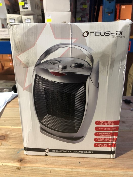 Lot 93 - 1 BOXED NEOSTAR ELECTRONICS OSCILLATING PTC CERAMIC HEATER / RRP £24.99 (PUBLIC VIEWING AVAILABLE)
