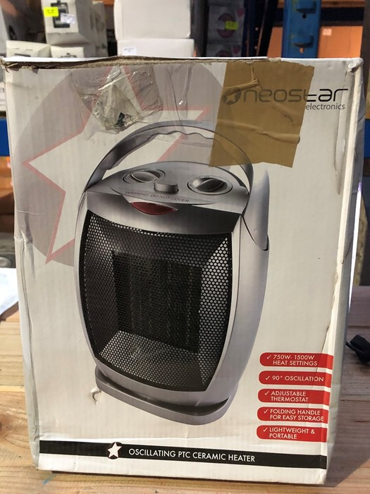 Lot 82 - 1 BOXED NEOSTAR ELECTRONICS OSCILLATING PTC CERAMIC HEATER / RRP £24.99 (PUBLIC VIEWING AVAILABLE)