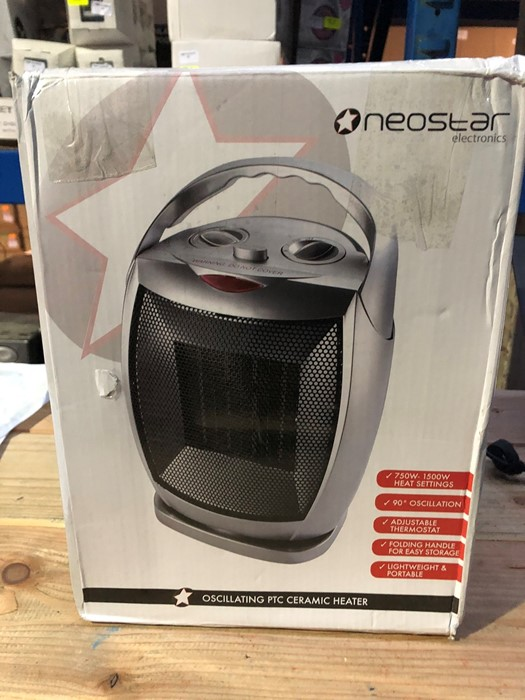 Lot 79 - 1 BOXED NEOSTAR ELECTRONICS OSCILLATING PTC CERAMIC HEATER / RRP £24.99 (PUBLIC VIEWING AVAILABLE)