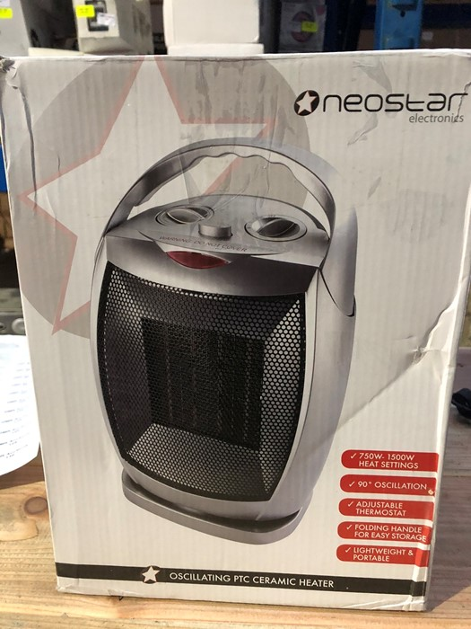 Lot 75 - 1 BOXED NEOSTAR ELECTRONICS OSCILLATING PTC CERAMIC HEATER / RRP £24.99 (PUBLIC VIEWING AVAILABLE)