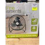 "1 BOXED FINE ELEMENTS 9"" HIGH VELOCITY FLOOR FAN / RRP £12.99 (PUBLIC VIEWING AVAILABLE)"