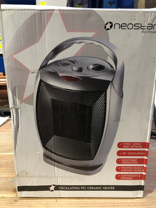 Lot 53 - 1 BOXED NEOSTAR ELECTRONICS OSCILLATING PTC CERAMIC HEATER / RRP £24.99 (PUBLIC VIEWING AVAILABLE)