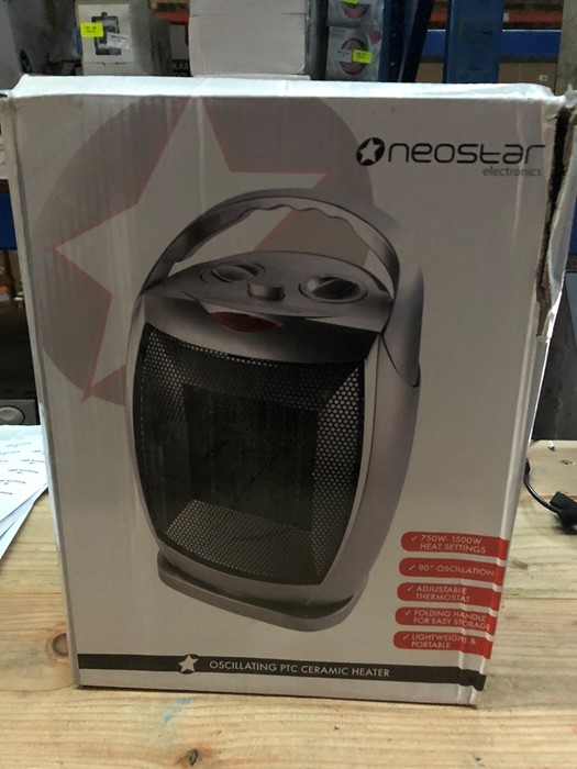 Lot 67 - 1 BOXED NEOSTAR ELECTRONICS OSCILLATING PTC CERAMIC HEATER / RRP £24.99 (PUBLIC VIEWING AVAILABLE)