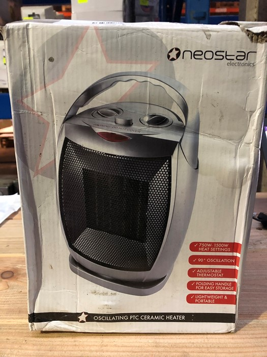 Lot 55 - 1 BOXED NEOSTAR ELECTRONICS OSCILLATING PTC CERAMIC HEATER / RRP £24.99 (PUBLIC VIEWING AVAILABLE)