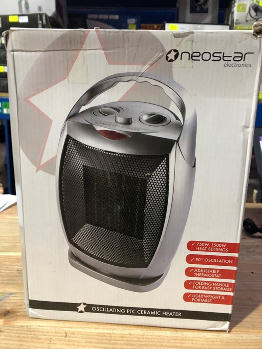 Lot 40 - 1 BOXED NEOSTAR ELECTRONICS OSCILLATING PTC CERAMIC HEATER / RRP £24.99 (PUBLIC VIEWING AVAILABLE)