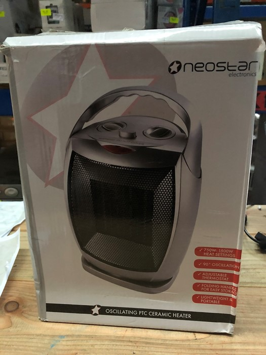 Lot 62 - 1 BOXED NEOSTAR ELECTRONICS OSCILLATING PTC CERAMIC HEATER / RRP £24.99 (PUBLIC VIEWING AVAILABLE)