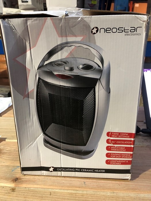 Lot 88 - 1 BOXED NEOSTAR ELECTRONICS OSCILLATING PTC CERAMIC HEATER / RRP £24.99 (PUBLIC VIEWING AVAILABLE)