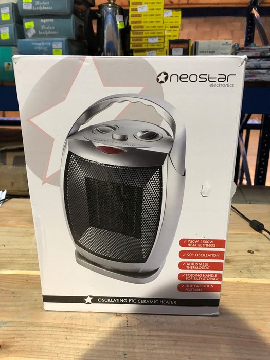 Lot 317 - 1 BOXED NEOSTAR ELECTRONICS OSCILLATING PTC CERAMIC HEATER / RRP £24.99 (PUBLIC VIEWING AVAILABLE)