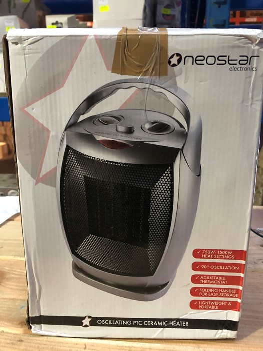 Lot 54 - 1 BOXED NEOSTAR ELECTRONICS OSCILLATING PTC CERAMIC HEATER / RRP £24.99 (PUBLIC VIEWING AVAILABLE)