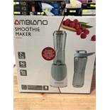 1 BOXED AMBIANO SMOOTHIE MAKER IN GREY / RRP £14.99 (PUBLIC VIEWING AVAILABLE)