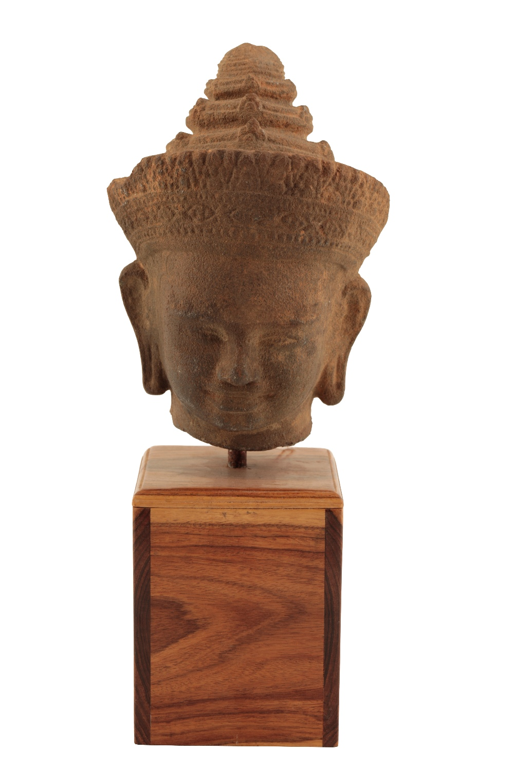 Lot 461 - CAMBODIAN SANDSTONE HEAD OF A BUDDHA, 13TH CENTURY OR LATER