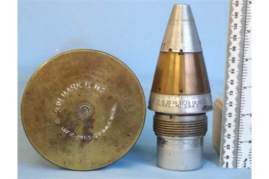 Unfired Inert American 3 Inch M5 (76 2x586) High Explosive