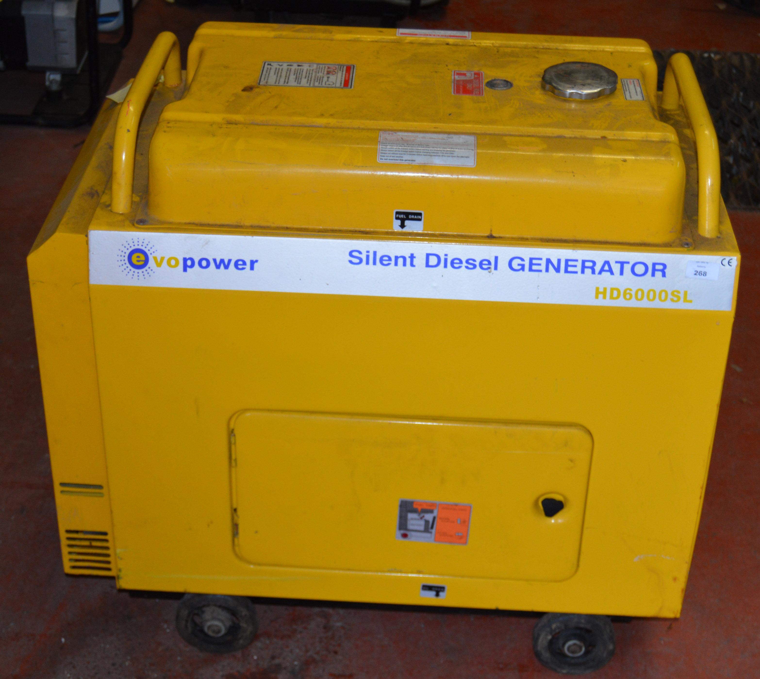 EX NHS EVO POWER Silent Diesel Generator HD6000SL [NO RESERVE